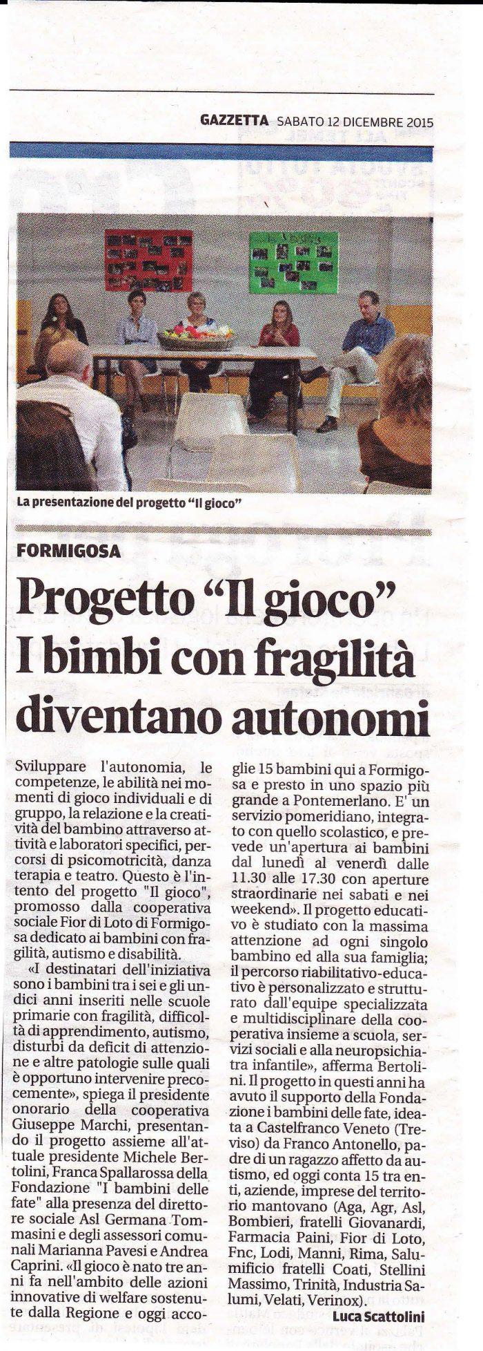 Gazzetta di Mantova 12-12-2015